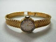 Ladies Vintage Swiss Gubelin 18k Yellow Gold Woven Mesh Wind-up Wrist Watch