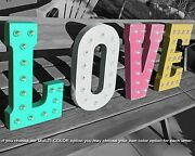 Love Rustic Metal Vintage Wedding Reception Party Prop Marquee Light Up Sign