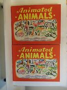 1943 Hc W/dj Animated Animals By Edward Ernest And Julian Wehr Moveable Tabs