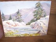 Original Oil By Peg Humphreys, Lake Tahoe Area 20 X 16 Stretched On Frame