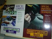 Curtis J Badger Lot 2 Bird Carving Basics Books Special Painting How To Compete