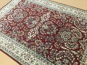 5and039.11 X 8and039.11 Rose Beige Fine Traditional Oriental Area Rug Hand Knotted Wool