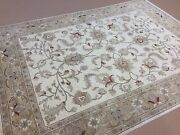 6'.10 X 9'.4 Beige Yellow Oushak Oriental Area Rug Hand Knotted Wool Foyer