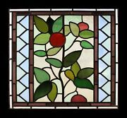 Stunning Art Nouveau Antique English Stained Glass Window