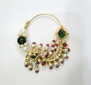 Vintage Solid 18k Gold Jewelry Nose Ring Nath