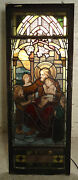 Beautiful Antique Religious Stained Glass Panel 05313ns