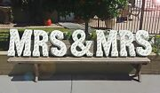Mrs And Mrs Battery Operated Rustic Metal Wedding Prop Light Up Led Marquee Sign