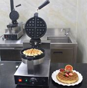 Commercial Electric Rotary Waffle Baker Waffle Making Machine 220v 110v A Fl