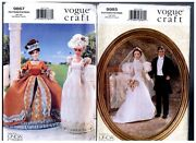 Vogue 9867 And 9985 Barbie 11 1/2 Doll 19th Century Dress Pattern S Retired Uncut