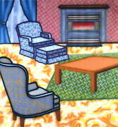 Howard Arkley - Riteroom - Limited Edition Print - 1998 - Large Size