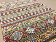 5and039.0 X 6and039.10 Multicolored Very Fine Oushak Modern Oriental Rug Hand Knotted