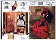 Vogue Craft 9688 And 9832 Doll Storage Trunk And Camping Set Pattern S Retired Uncut