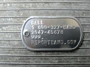 2047 Prefix Duck Band- Goose Bands Military Dog Tag Not Unreported Necklace