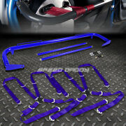 Blue 49stainless Steel Chassis Harness Bar+blue 4-pt Strap Camlock Seat Belt