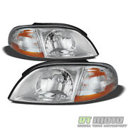 1999-2003 Ford Windstar Replacement Headlights Headlamps 99-03 Pair Left+right