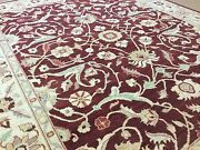 8and039.0 X 9and039.9 Burgundy/red Beige Oriental Rug Fine Ziegler Hand Knotted Wool