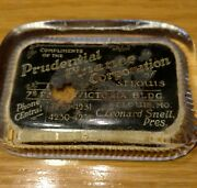 Rm096 Rare Prudential Finance Corp St Louis Mo Antique Advertising Paper Weight
