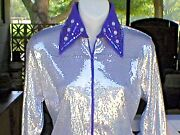 Womens Silver Sequin 2 Western Rail Pleasure Rodeotrail And Glamour Shirt