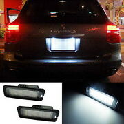 Oem-replace Canbus Led License Plate Lights For Vw Gti Golf Cc Rabbit, Porsche