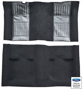 71-73 Ford Mustang Mach I W/ Black Running Pony Inserts Nylon Replacement Carpet
