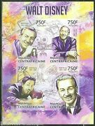 Central Africa 2013 Hommage To Walt Disney Sheet Imperforated Mint Nh