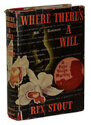 Where Thereand039s A Will Rex Stout First Edition 1st Printing 1940 Dust Jacket