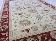 6and039.5 X 9and039.9 Ivory Rust Fine Traditional Ziegler Oriental Rug Hand Knotted Wool