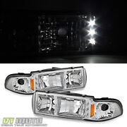 1991-1996 Chevy Caprice Impala Led Headlights W/ Built In Corner Signal Lamps