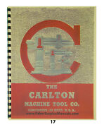 Carlton Radial Arm Drill Press Of Oa And 1a -0f0a Maintenance And Parts Manual17