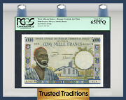 Tt Pk 204bj 1960s West African States 5000 Francs Pcgs 65 Ppq Gem New
