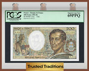 Tt Pk 155a 1981-86 France 200 Francs Pcgs 69 Ppq One Point Away From Perfect