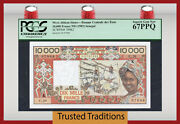 Tt Pk 709kf 1983 West African States 10000 Francs Pcgs 67 Ppq Rare None Finer