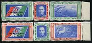 Fabulous Lot Of Italy Balboa Scottc48/49 6 Pairs Mint Stamps Never Hinged