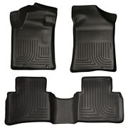 Husky 99641 Weatherbeater Front And Rear Floormats Set For 2013-2015 Nissan Altima
