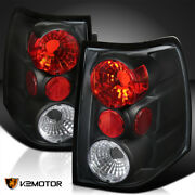 Fits 2003-2006 Ford Expedition Black Rear Brake Lamps Stop Tail Lights Pair