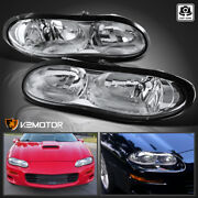 For 1998-2002 Chevy Camaro Z28 Clear Headlights Head Lamps Left+right Pair