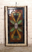 Vintage Antique Stained Glass Window Panel 06573ns