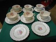 Rare English Royal Staffordshire China By Carlice Cliff Janice 6 Cups And Saucers