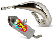 Fmf Exhaust System - Fatty Pipe And Shorty Silencer - 2005-on Yamaha Yz125 Yz125x