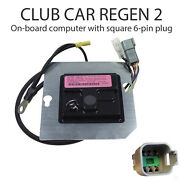 Club Car Ds Regen 2 Obc On-board Computer With Square 6-pin Plug 1019099-02
