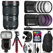 Canon 16-35mm 2.8l Iii Usm Lens + Professional Flash And More - 32gb Accessory Kit