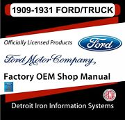 1909-1931 Ford Tt Aa Trucks And Model T A Cars Shop Manuals And Parts Books Cd