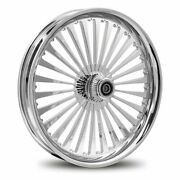 Dna Ss2 Chrome Forged Billet 18 X 10.5 Rear Harley 280-300 Tire