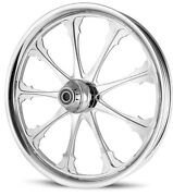 Dna Greed Chrome Forged Billet 21 X 3.25 Front Wheel Harley Softail