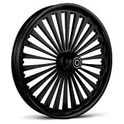 Dna Ss2 Gloss Black Forged Billet Wheel 18 X 8.5 Rear Harley 240-250 Tire
