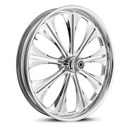 Dna Envy Chrome Forged Billet 21 X 3.25 Front Wheel Harley Softail