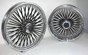 Mammoth Fat 52 Black Spoke Wheels Harley 21x3.5 16x3.5 Deluxe Heritage Touring