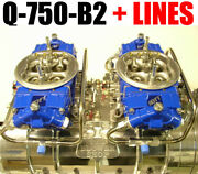 Quick Fuel Q-750-b2 Cfm Powder Coated Supercharger Carbs Lines Red Or Blue Link