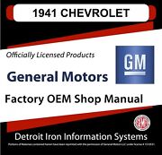 1941 Chevrolet Truck And Car Shop Manuals And Parts Books Cd