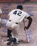 Rookie Of The Year Signed 16x20 Photo 16 Sigs - Pete Rose Gooden Canseco